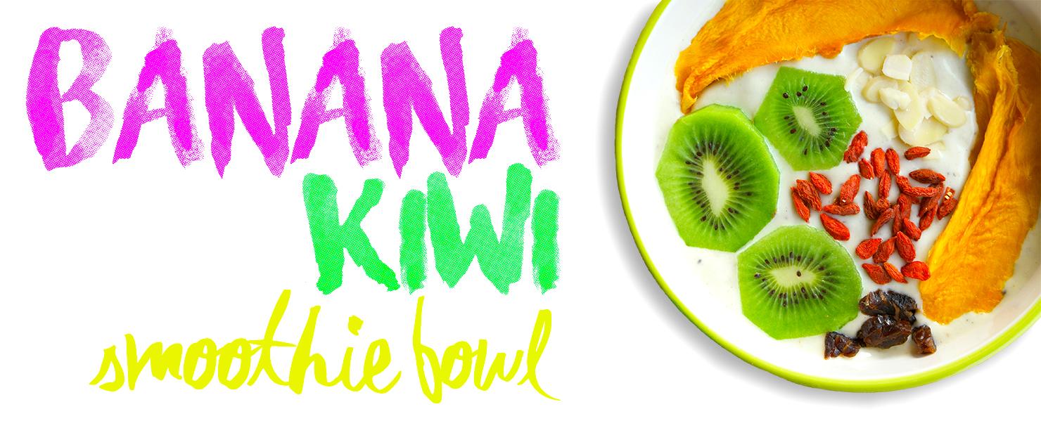 Banana-Kiwi Smoothie Bowl